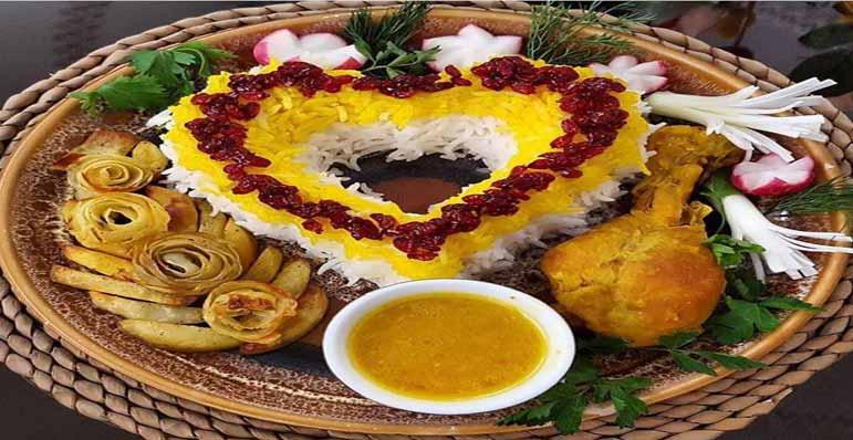 آموزش تزئین برنج ایرانی برای میهمانی ها و مجالس